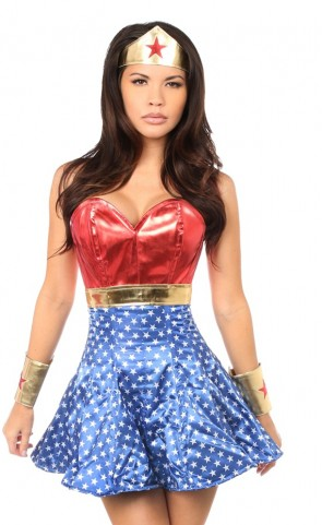 Superhero Corset Dress Costume