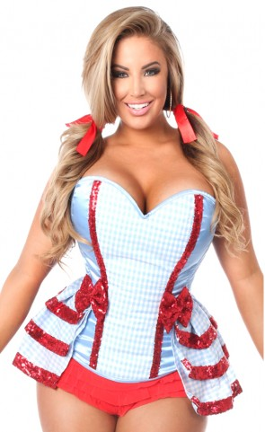 3 Piece Kansas Girl Corset Costume Plus Size