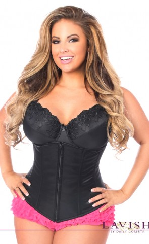 Lavish Underbust Zipper Corset Plus Size
