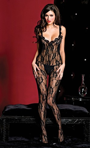 Low Back Lace Crotchless Bodystocking