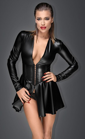 Noir Handmade Powerwetlook Mini Dress Plus Size