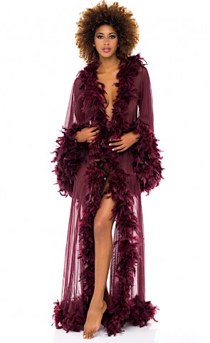 Tempest Sheer With Marabou Robe