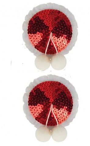 Sequin Pasties With Ball Tassel