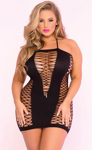 Seamless V Plunge Dress Plus Size