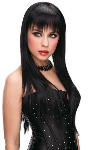 Amber Black Long Wig