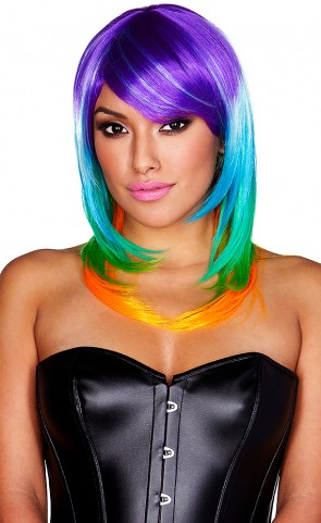 Rainbow Wig Multi Color