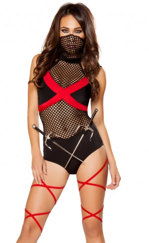 Ninja of Darkness Romper Costume