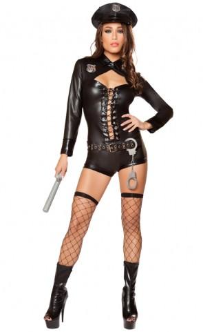 Code 4 Police Romper Costume