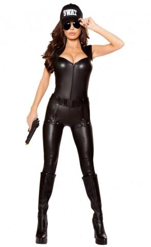 Sexy SWAT Commander Catsuit Costume