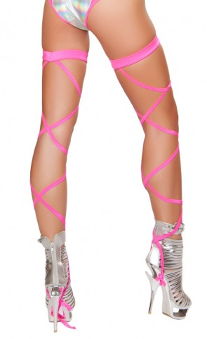 Solid Leg Straps With Attached Garters