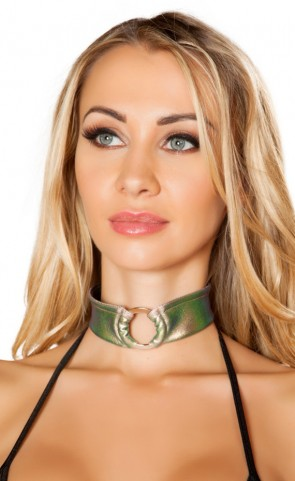 Iridescent O-Ring Choker