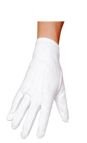 Wrist Length White Gloves