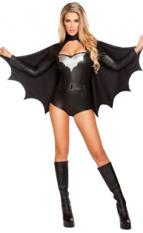 Sexy Night Vigilante Romper Costume