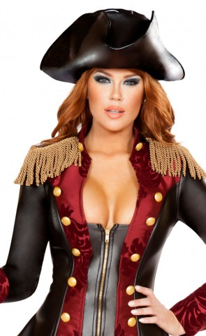 Leatherette Pirate Costume Hat