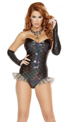Dark Mermaid Romper Costume