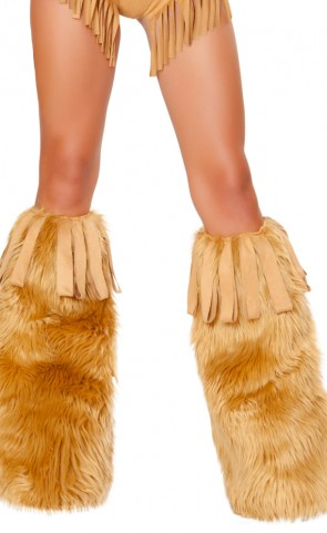 Lioness Costume Leg Warmer With Fringe