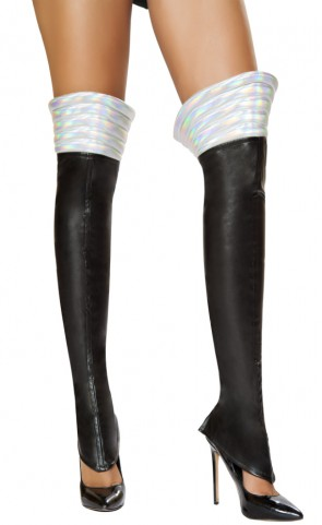 Space Girl Costume Black Leggings