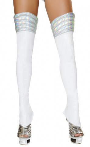 White Space Girl Costume Leggings