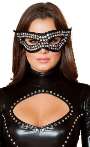 Rhinestone Costume Mask