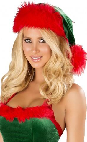Fur Trimmed Velvet Santa Hat