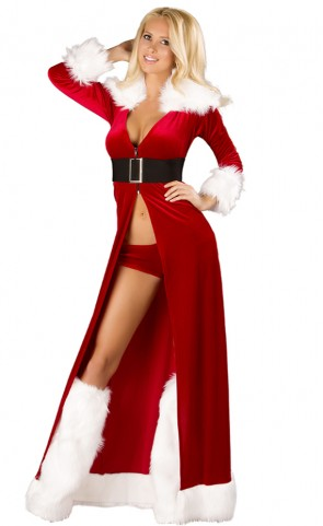 Sexy Miss Claus Robe Costume