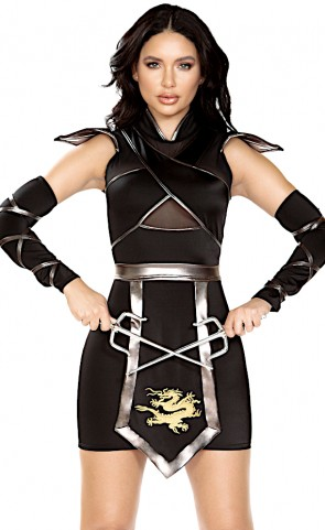 Ninja Warrior Dress Costume
