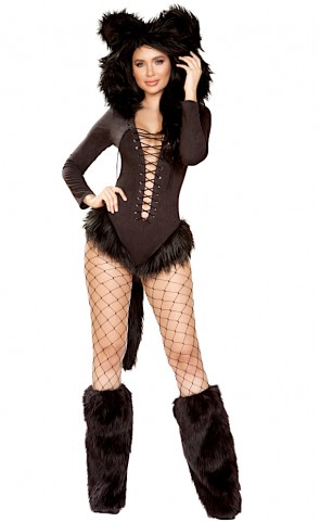 Vicious Cat Romper Costume