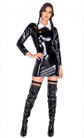 Gothic Wednesday Girl Costume