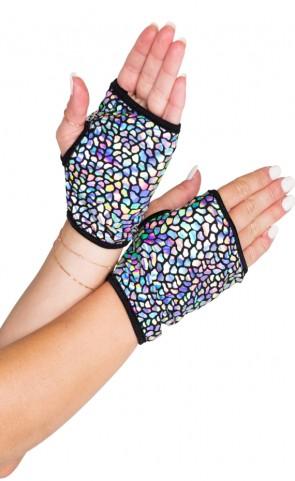 Open Finger Holographic Gloves
