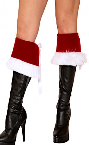 Holiday Santa Faux Fur Trim Boot Cuffs