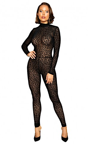 Velvet Leopard Long Sleeved Bodysuit