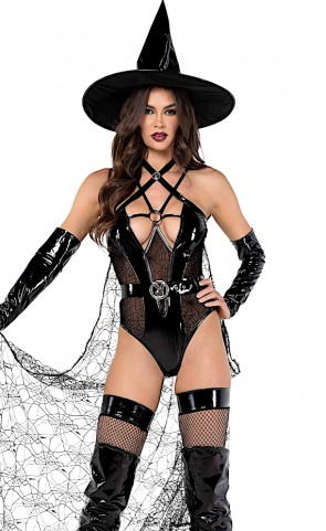 3 PC Playboy Wicked Witch Costume