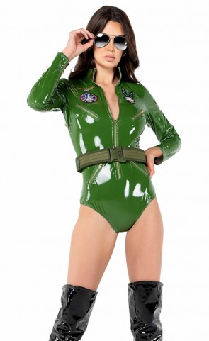 2 PC Playboy Top Pilot Costume