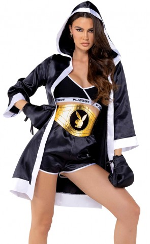 5 PC Playboy Knock-Out Boxer Costume