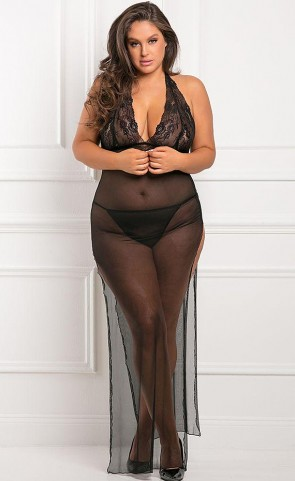 All Out There Sheer Gown Plus Size