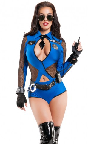 Naughty Officer Romper Costume