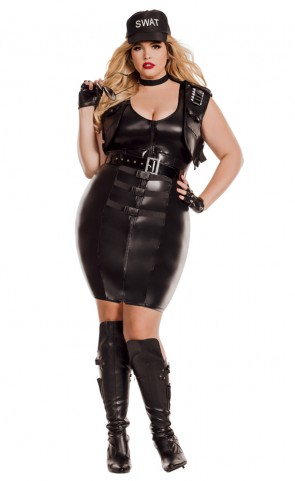 Sultry Swat Costume Plus Size
