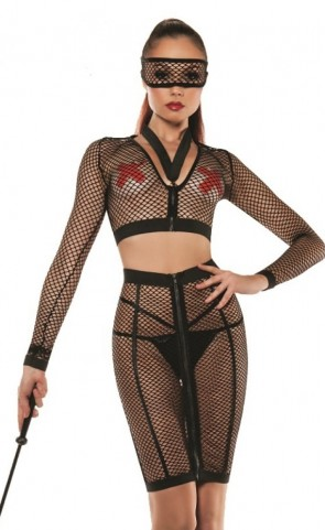 Starline Micro Fishnet Top & Skirt Set