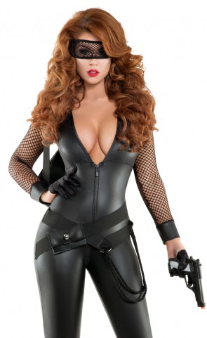Bankrobber Babe Catsuit Costume