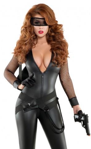 Bankrobber Babe Catsuit Costume