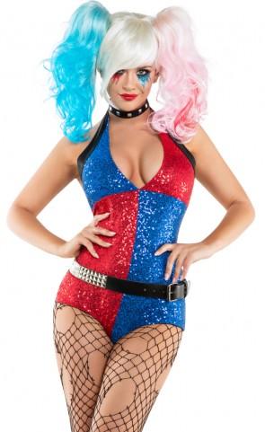 Sexy Suicide Gal Romper Costume