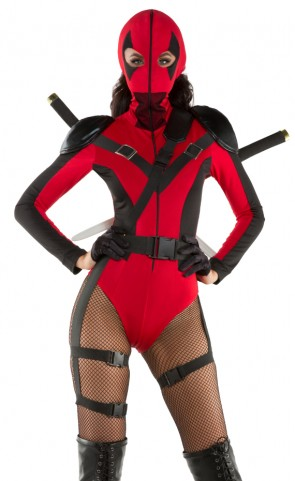 Sexy Dead Assassin Romper Costume