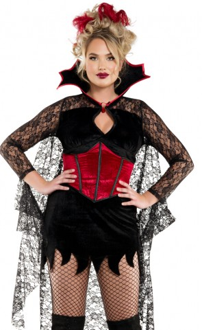 Plus Size Dark Castle Vampire Costume