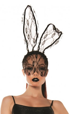 Roleplay Lace Bunny Mask