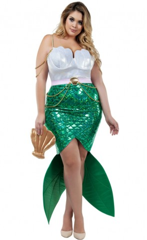 Alluring Sea Siren Costume Plus Size