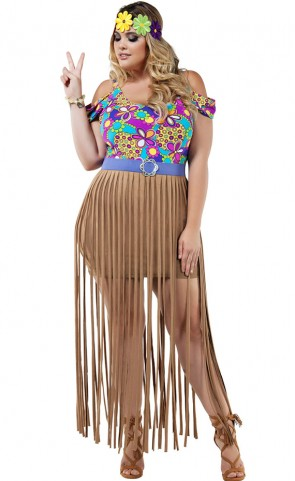 Happy Hippy Costume Plus Size