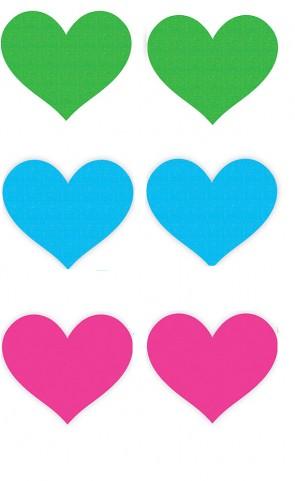 Peekaboos Neon Hearts - Pack Of 3