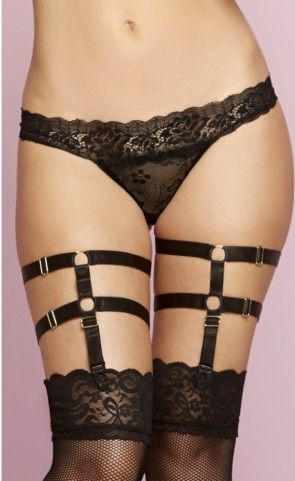 Satin Elastic Leg Harness