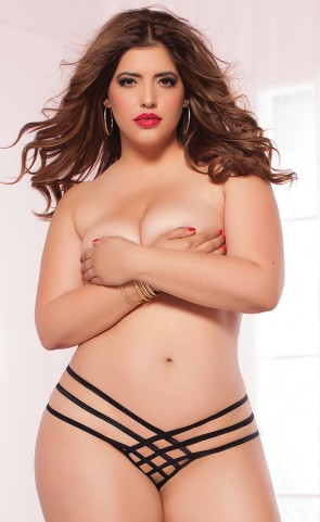 Strap Me In Thong Plus Size