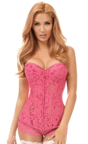 Top Drawer Underwire Sheer Lace Corset